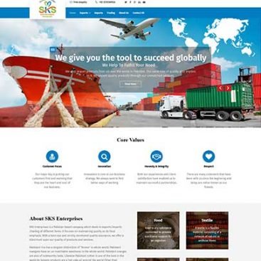 SKS Enterprises Designed & Developed By Herald Lynx Lahore Pakistan