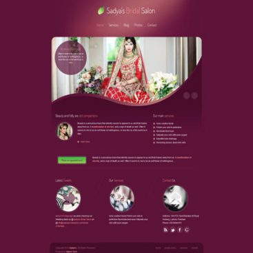 Beauty Salon Website Designed & Developed By Herald Lynx Lahore Pakistan